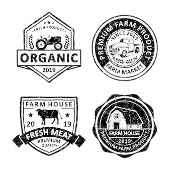 Os modelos de logotipo do agricultor