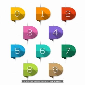 Os números em coleção fitas