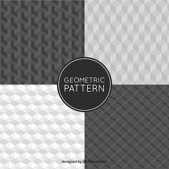 Os padrões geométricos com formas