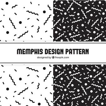 Os padrões geométricos em preto e branco