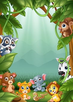 Os pequenos animais uma floresta