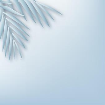 Os produtos exibem uma cena de pódio de fundo 3d com uma plataforma geométrica de folhas azuis. ilustração vetorial ..