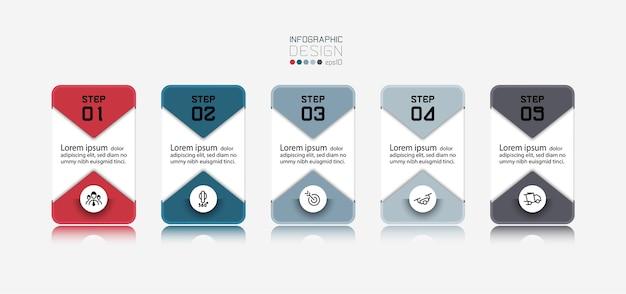 Os quadrados do cartão podem ser usados para marketing de publicidade ou planejamento de apresentação de informações