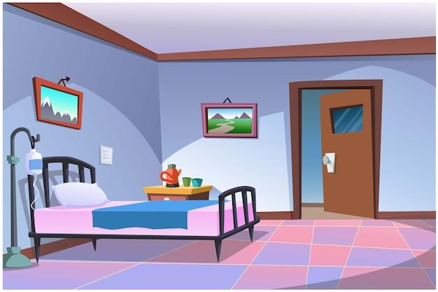 Os quartos de um paciente não são combinados com os quartos de outras pessoas.
