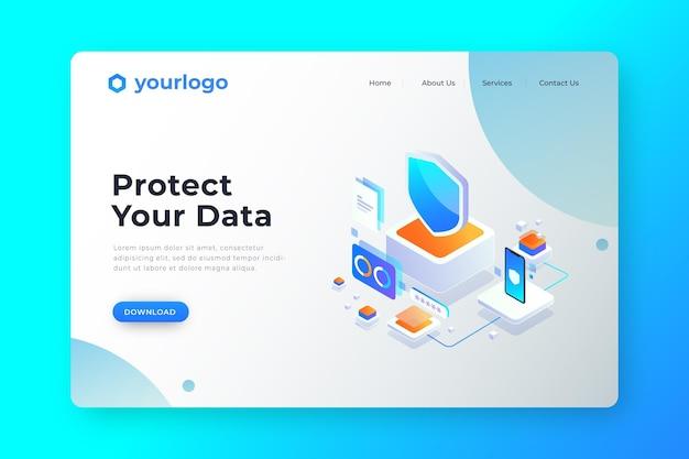 Os usuários protegem sua página de destino de dados