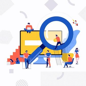 Otimização de mecanismo de pesquisa de conceito de design plano e página de classificação de resultados