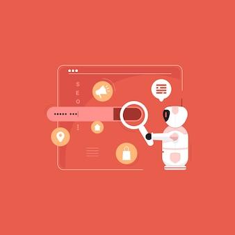 Otimização de mecanismo de pesquisa robótica, ferramenta de pesquisa de palavras-chave, marketing na internet