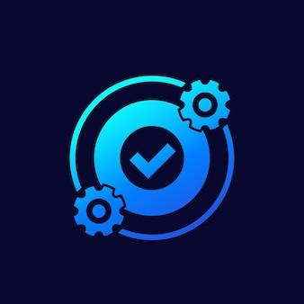 Otimização, otimizar ícone com engrenagens