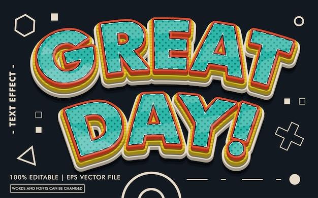 Ótimo dia! estilo de efeito de texto