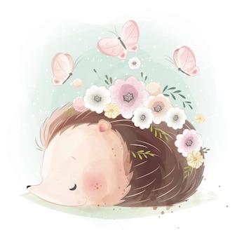 Ouriço fofo de primavera