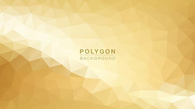 Ouro claro de polígono