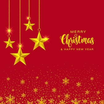 Ouro comece a temporada de feliz natal