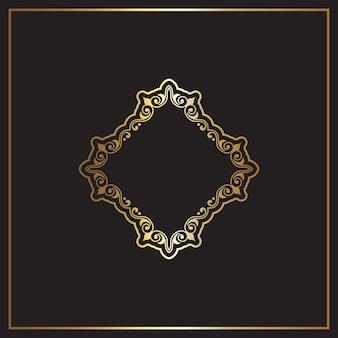 Ouro elegante e fundo preto