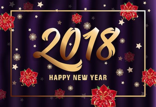Ouro, feliz, ano novo, letras, quadro