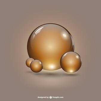 Ouro formas redondas modelo
