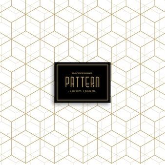 Ouro geométrico cubo estilo padrão fundo