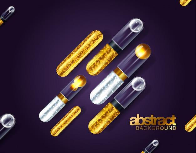 Ouro preto e formas geométricas coloridas da cerceta