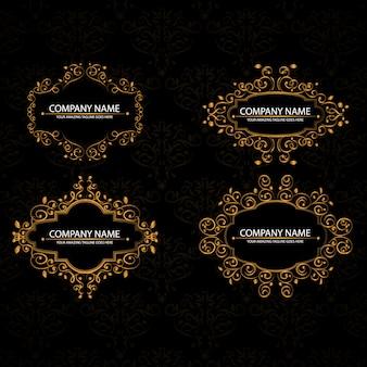 Ouro quadros colelction ornamental