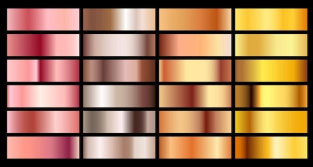 Ouro rosa bronze prata e ouro fundo gradiente de textura