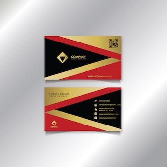 Ouro vermelho moderno e cartão preto