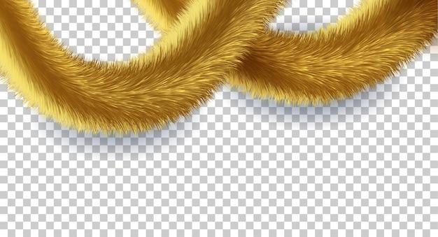 Ouropel dourado fofo para decorar