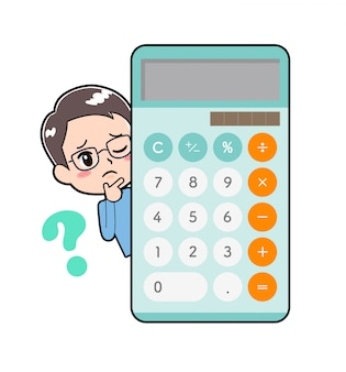 Out line man -calculator-question