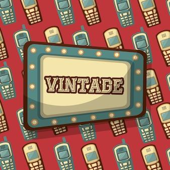 Outdoor com palavra vintage e celular fundo