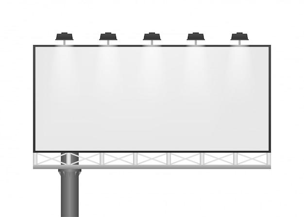 Outdoor na luz de fundo. modelo de cartaz horizontal branco vazio. modelo de marketing. ilustração.