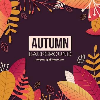 Outono backgound com folhas