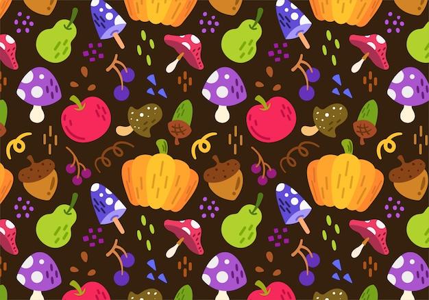 Outono colheita padrão de fundo