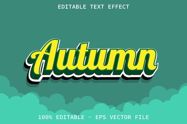 Outono com efeito de texto editável de estilo moderno