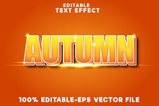 Outono de efeito de texto editável com estilo outono moderno