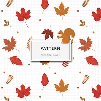 Outono de folha padrão