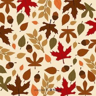 Outono de mão desenhada deixa o fundo