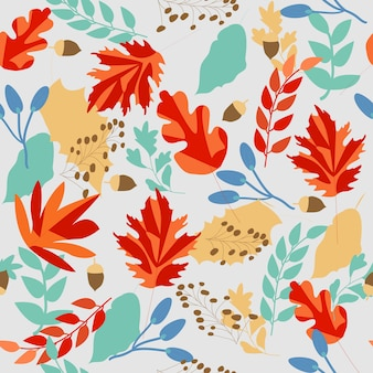 Outono doce bonito deixar sem costura padrão