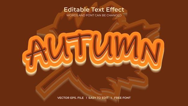 Outono efeito de texto