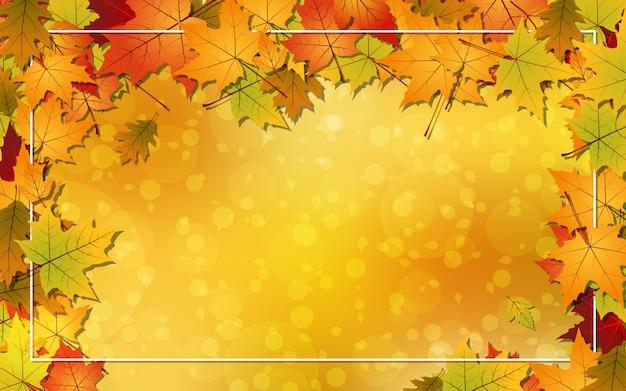 Outono estilo de fundo vector