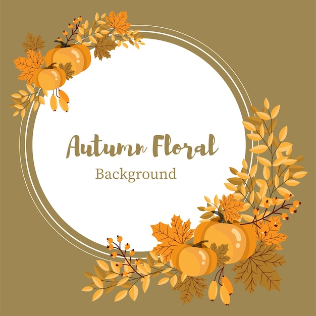 Outono floral fundo.