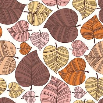 Outono folha padrão sem emenda.