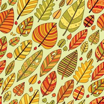Outono folha sem costura padrão