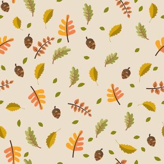 Outono folhas conceito padrão sem emenda.