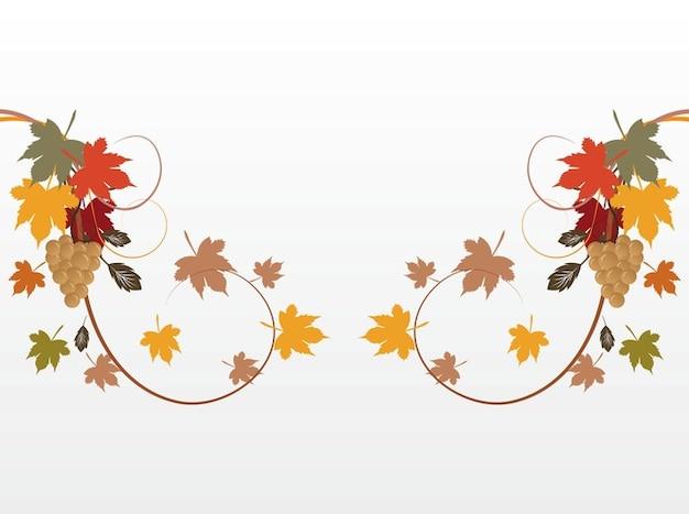 Outono folhas de plantas decorações vector