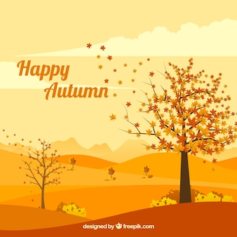 Outono fundo com paisagem