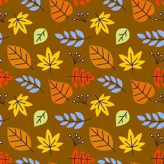 Outono leafes seamless vector pattern background