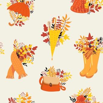 Outono natural padrão sem emenda.