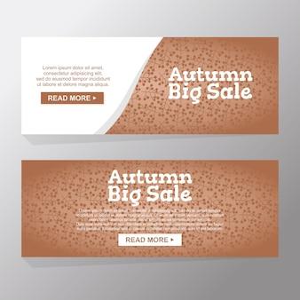 Outono natureza grande venda e desconto de publicidade