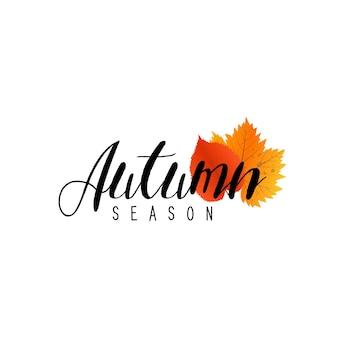 Outono nova temporada de vendas e descontos, promoções e ofertas.