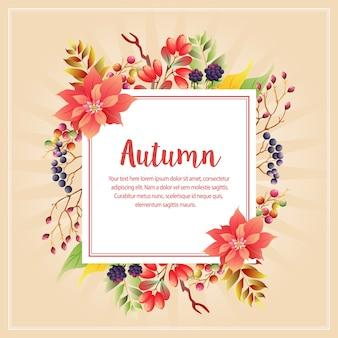 Outono outono planta com poinsétia