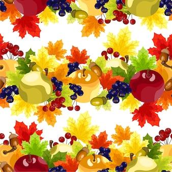 Outono padrão floral sem emenda.