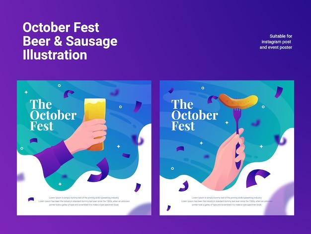 Outubro fest salsicha de cerveja